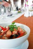 Thai food Tom Yum Kung in a bowl 2 royalty free stock photography