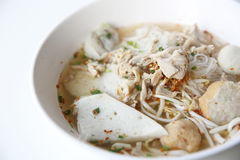 Thai Food Tom Yum Noodle In Thai Style Stock Photography