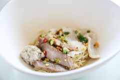 Thai food Tom yum noodle. In Thai style stock images