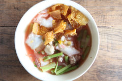 Thai food Tom yum noodle in Thai style Royalty Free Stock Photography
