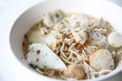 Thai food Tom yum noodle in Thai style Stock Photo