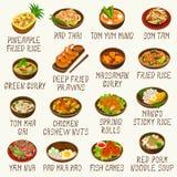 Thai Food Vector Illustration Set Royalty Free Stock Photography