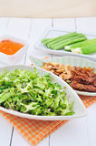 Thai food vegetable salad. Stock Image