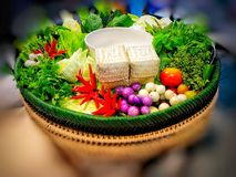 Thai Food - Vegetables and herbs. Used in Thai cuisine and cooking stock images