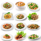 thai food on white background Royalty Free Stock Image