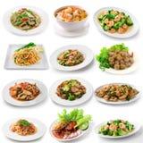 Thai food on white background Royalty Free Stock Image