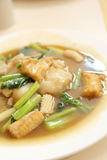 Thai food Wide Noodles in a Creamy Sauce Stock Photo