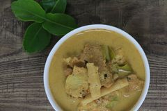 Bamboo shoot with pork bone curry royalty free stock image