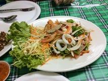 Thai food. Yum kung (shrimp Stock Image