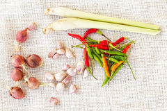 Thai foods flavouring Royalty Free Stock Image