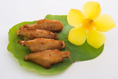 Thai foods, fried salted chicken Royalty Free Stock Photos
