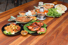 Thai foods. On a table Stock Images