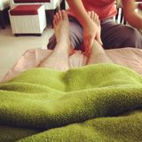 Thai foot massage Stock Photography