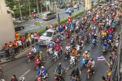 Thai football fans celebrate after winning AFF Suzuki Cup 2014 Stock Photography