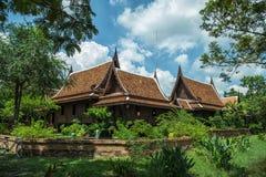 thai forntida hus Arkivbild