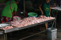 Thai fresh chicken meat shop Royalty Free Stock Photography