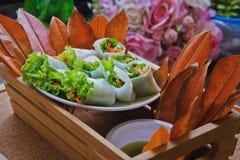 Thai fresh rolls Royalty Free Stock Photo