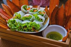Thai fresh rolls Stock Photography