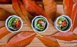 Thai fresh rolls Royalty Free Stock Images