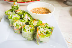 Thai fresh Spring Roll Royalty Free Stock Photography