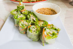 Thai fresh Spring Roll Royalty Free Stock Image