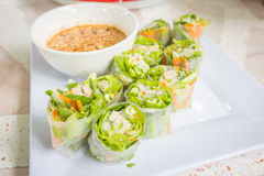 Thai fresh Spring Roll Stock Image