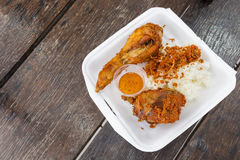Thai fried chicken with sticky rice Royalty Free Stock Image