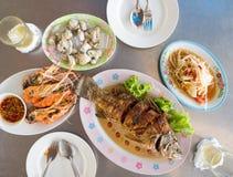 Thai fried fish set. royalty free stock photos
