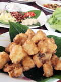 Thai fried fish wrapped. Royalty Free Stock Images