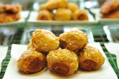 Thai fried food, deep Fried Chicken, Shrimp, Crab Rolls Stock Photography