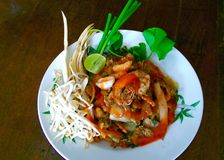 Thai fried noodle Royalty Free Stock Image