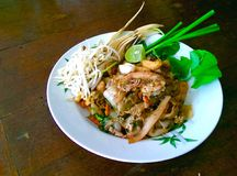 Thai fried noodle Royalty Free Stock Photo