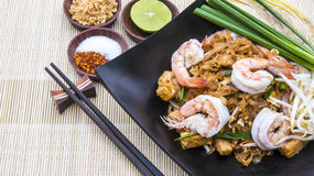 Thai Fried Noodle With Prawn Pad Thai Gung Sod Royalty Free Stock Photos