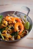 Thai fried noodles with prawn (Pad Thai), Thailand popuplar cuis Stock Photo