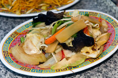 Thai fried Noodles and vegetables Stock Images