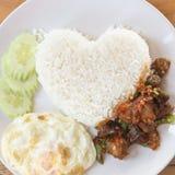 Thai fried pork basil sauce Royalty Free Stock Photography