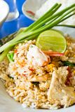 Thai fried rice. Dish of thai fried rice Stock Photography