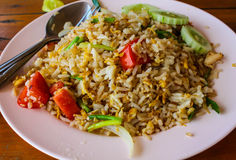 Thai Fried rice with crabmeat. In thailand Stock Images