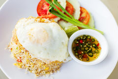 Thai fried rice with egg (Khao phat) Stock Images