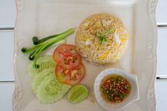 Thai fried rice Royalty Free Stock Image