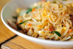 Thai fried rice noodles Royalty Free Stock Image