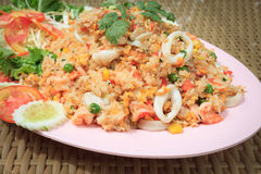Thai fried rice with seafood. Royalty Free Stock Image