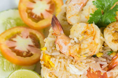 Thai Fried rice  with shrimp Stock Images