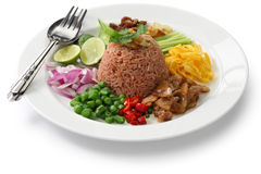 Thai fried rice with shrimp paste Stock Photography
