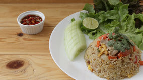 Thai fried rice. Very common type of Thai fried rice stock photography