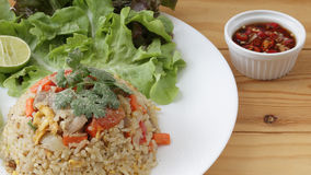 Thai fried rice. Very common type of Thai fried rice stock images