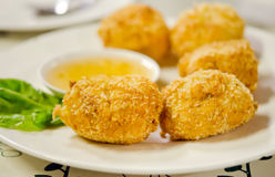 Thai fried shrimp cakes Stock Photos