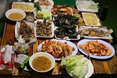 Thai Fried Shrimp Dumplings in Plate stock image