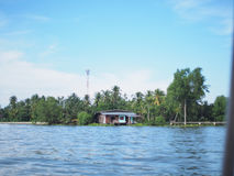 Thai Front water house. royalty free stock image