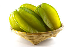 Thai fruit. Green fruit with a sweet neck junction Stock Images